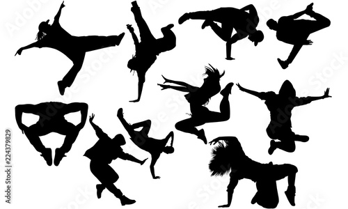 Hip Hop Dance Svg Dance Cricut Files Black Dancer Silhouette Vector Clipart Illustration Eps Overlay Buy This Stock Vector And Explore Similar Vectors At Adobe Stock Adobe Stock