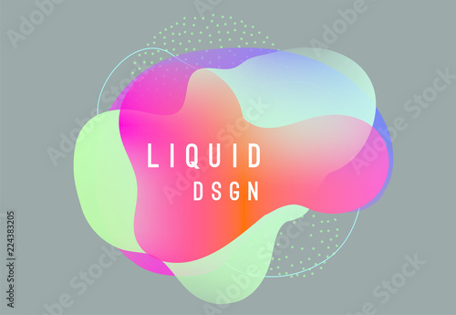 Fototapety, obrazy: Abstract liquid shapes design. Colorful fluids design.