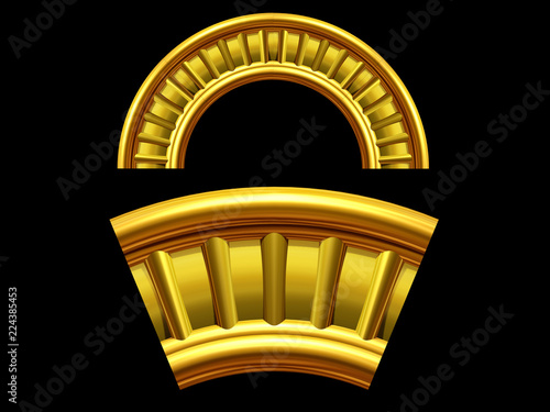 """ornamental segment, """"ladder, round version for fourty five degree angle corners or frames Wallpaper Mural"""