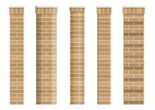Set Of Textures Of Brick Classical Columns