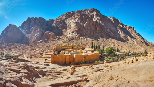 Recess Fitting Egypt Panorama of St Catherine Monastery, Sinai, Egypt