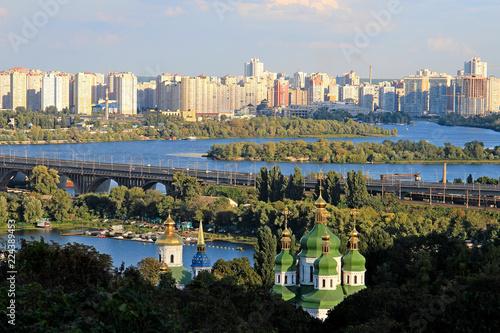 Foto op Plexiglas Kiev Vydubetsky Monastery in Kiev