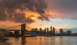 View to Manhattan Skyline form Brooklyn Bridge Park