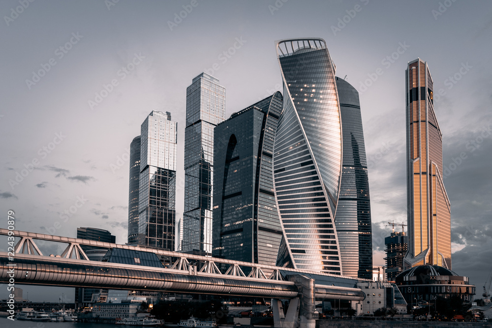 Fototapety, obrazy: Skyscrappers in city 1
