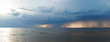 Panoramic view of heavy clouds at the Mare Balticum
