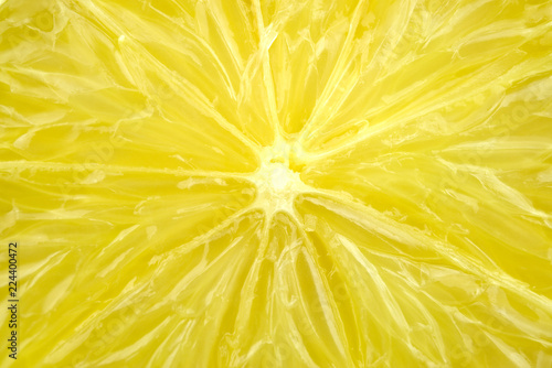 Photographie Macro detail of fresh juicy lemon