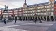 Time lapse panning in Plaza Mayor, Madrid
