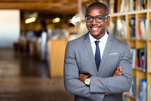 Smiling And Cheerful African American Business Professional, Attorney At Law Office