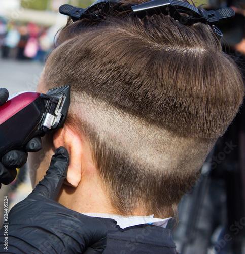 beautiful haircut of a young man