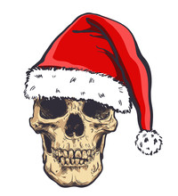 Graphical Skull In New Years H...