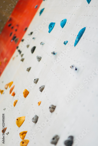 Fototapety, obrazy: A segment of a climbing wall with a difficult pattern