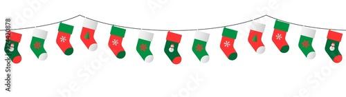 Obraz na plátne christmas stockings garland