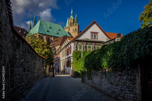 Stampa su Tela Spaziergang durch die Erfurter Altstadt