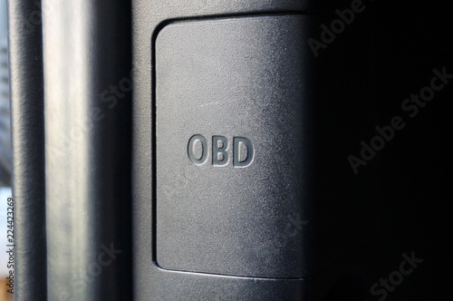 Cars OBD port cover - Buy this stock photo and explore similar
