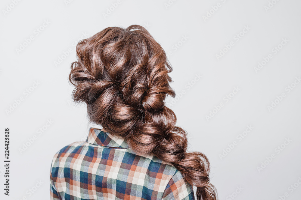 Fototapety, obrazy: Beautiful woman with Tail Hair style hairdress