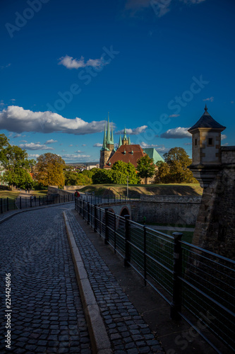 Blick vom Petersberg über Erfurt