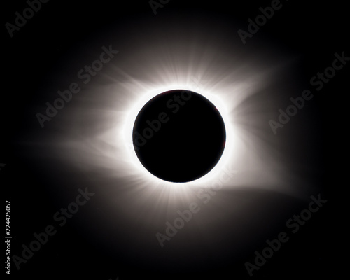Totality from total solar eclipse as viewed from South Carolina
