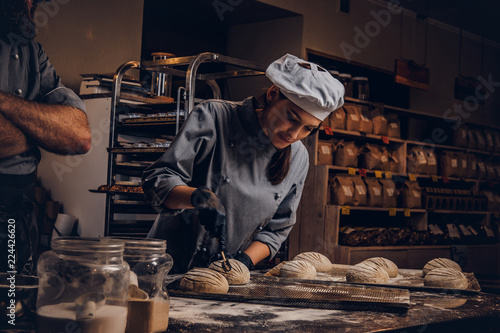 Cooking master class in bakery Fototapete