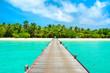 Overwater bridge in the Indian Ocean