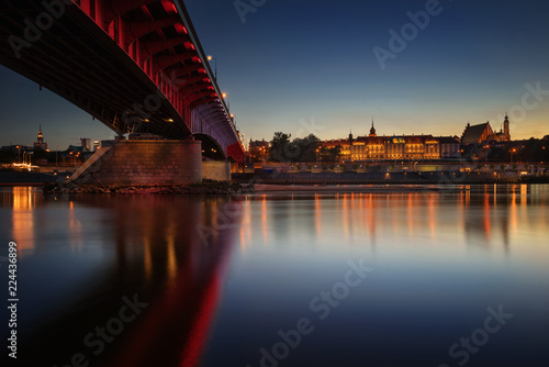 Fototapeta Warsaw evening obraz