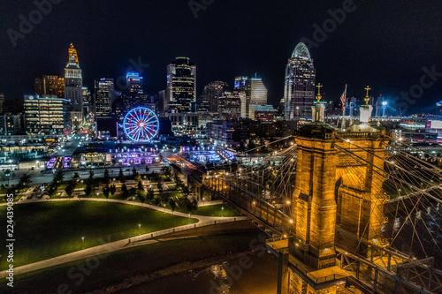 Keuken foto achterwand Stad gebouw Cincinnati Skyline at Night