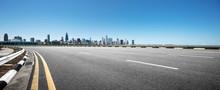 Empty Highway Through Modern C...