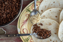 Cooked Pinto Beans And Brown R...