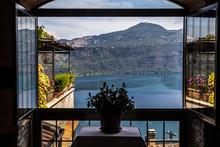 Framed View Of Lake Albano (La...