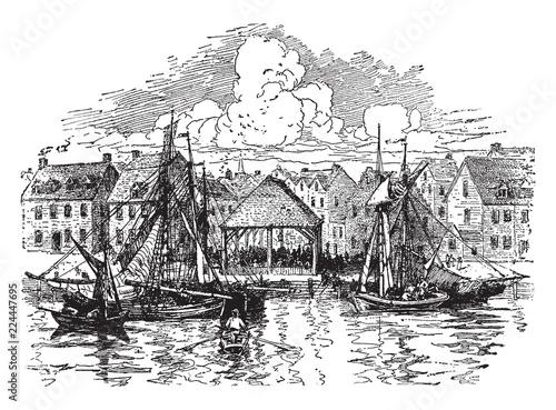 Fotografía  A Colonial Slave Market,vintage illustration