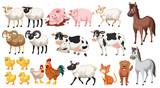 Fototapeta Fototapety na ścianę do pokoju dziecięcego - Set of farm animals
