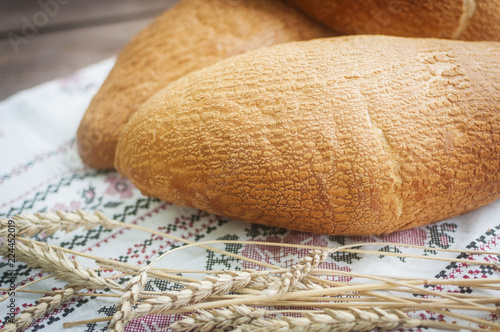 loaf of freash artisan bread
