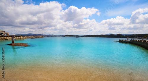O Grove Peralto beach in Pontevedra Galicia