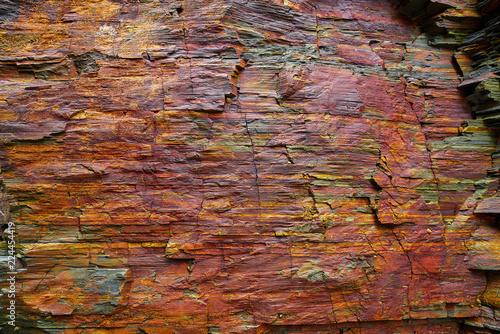 Fotobehang Stenen Slate stone texture in Playa las catedrales Ribadeo