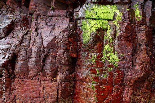 In de dag Stenen Slate stone texture in Playa las catedrales Ribadeo