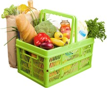 Shopping Cart Filled With Vari...