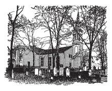 St. John's Church Vintage Illu...