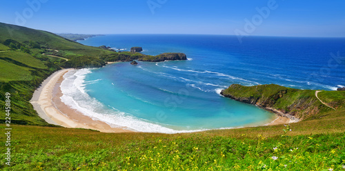 Photo Torimbia beach in Asturias near Llanes Spain