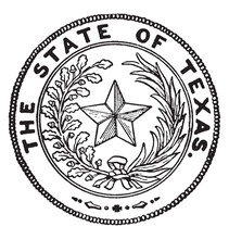 The Seal Of Texas, Vintage Illustration