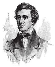 Henry David Thoreau, Vintage Illustration