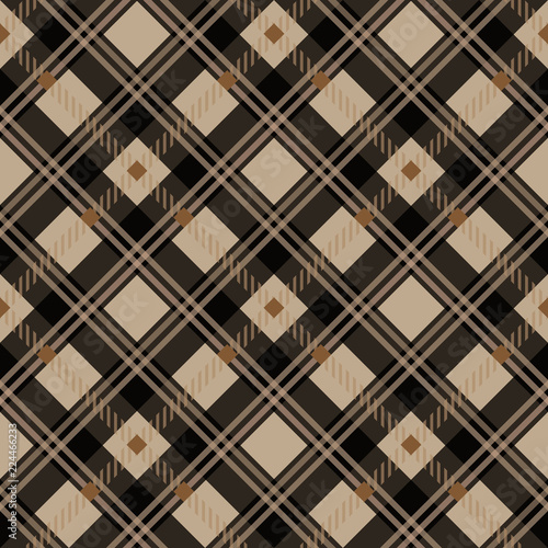 Suits for Decorative Paper Fashion Design and House Interior Design as Well as for Hand Crafts eps 10 & Tartan Seamless Pattern. Trendy Vector Illustration for Wallpapers ...