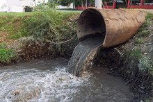 Dirty Sewage From The Pipe, Environmental Pollution