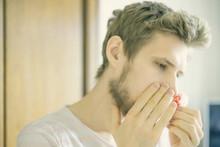 Close Up Bearded  Man Portrait...