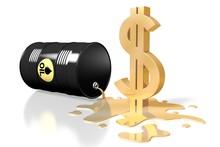 3D Oil Barrel, Dollar Sign