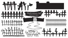 Spooky Cemetery Gate Silhouett...