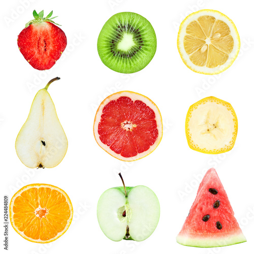 Collection fruit slices
