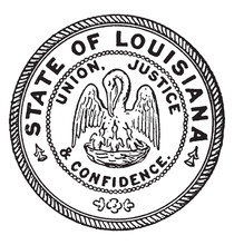The Seal Of The State Of Louisiana, Vintage Illustration