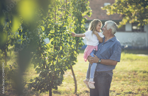 Grandfather, I love our moments in the countryside. Canvas Print