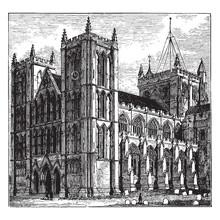 Ripon Cathedral Vintage Illust...