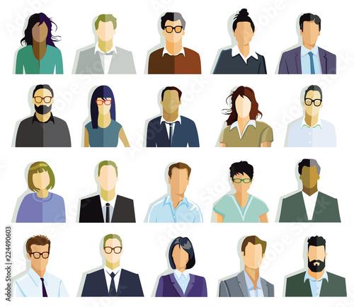 Obraz Personen Gesichter, PortraitAbbildung - fototapety do salonu