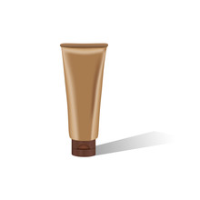Brown Cosmetic Tube With Shado...
